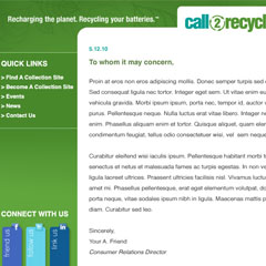 Call2Recycle Email Template