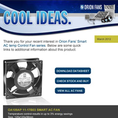 Orion Fans Product Spotlight